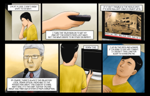 Forgetting is a graphic novel with CYOA-style branching when you click on certain panels.