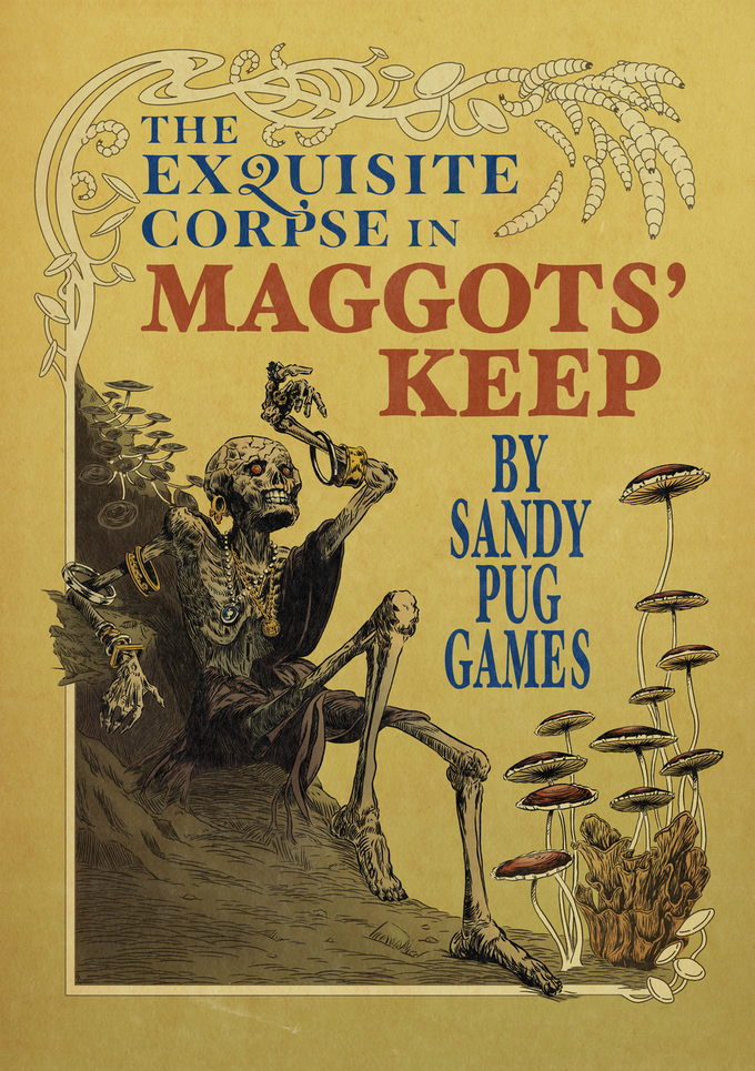 Cover art for the Exquisite Corpse in Maggots' Keep