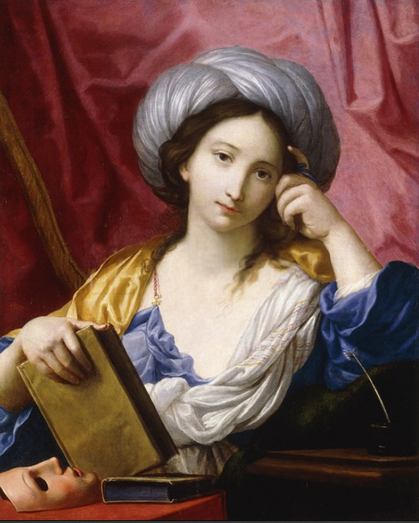 Melpomene, the Muse of Tragedy, as painted by Elisabetta Sirani