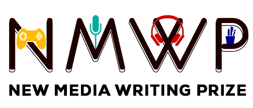 Logo with the letters NMWP followed by the words New Media Writing Prize